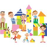 積み木で家 三世代家族 - 219934196