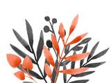 Watercolor floral composition - 219947736