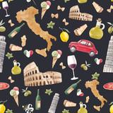 Watercolor italian pattern - 219948579