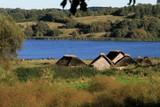 viking houses, viking settlement Haithabu - 219966108