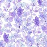 Seamless Pattern of Watercolor Foliage - 219966111