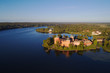 Leinwanddruck Bild - Gripsholm castle aerial view