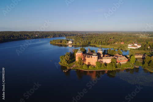 Leinwanddruck Bild Gripsholm castle aerial view