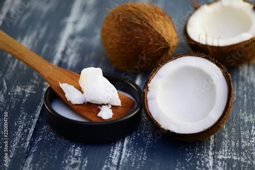 Leinwanddruck Bild Kokos  , Kokosfett