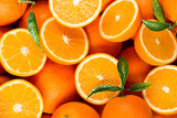 slices of citrus fruits - oranges - 220024121