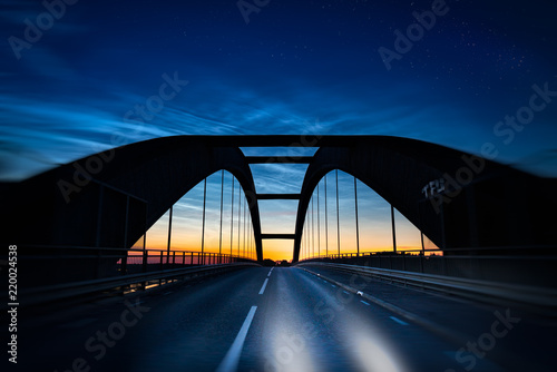 Driving over the brige