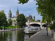 Ottawa, view along Rideau Canal to Parliament Building