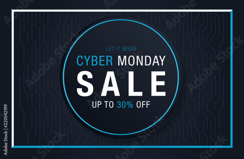Cyber Monday Sale background with space for your text