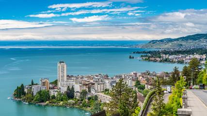 Switzerland, Montreux and lake Leman view © AlehAlisevich