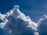 Clouds are a large group of blue, white, and blue sky.