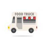Food truck vector isolated - 220064741