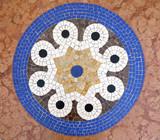 ITALY, MILAN - SEPTEMBER 27, 2014 - Floor mosaic in galleria Vittorio Emanuele II - 220074113