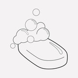 Soap icon line element. Vector illustration of soap icon line isolated on clean background for your web mobile app logo design. - 220076533