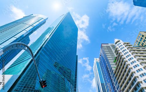 シンガポールの高層ビル群