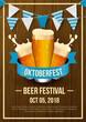 Oktoberfest festival background. Vector illustration