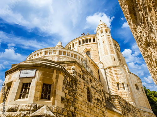 Abbey of Dormition (Church of the Cenacle) on mount Zion, Israel.