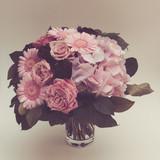 Bouquet flowers in vase, vintage look - 220111771