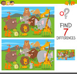 differences puzzle game with animal characters - 220117757
