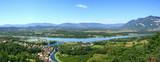 vue panoramique sur Chanaz, le canal de Savières, le Rhône et le Grand Colombier - 220117971