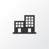 Office building icon symbol. Premium quality isolated apartment element in trendy style. - 220118368