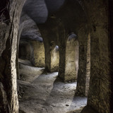Abandoned chalky underground cave church. - 220145320
