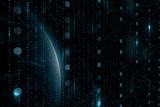 Futuristic digital earth planet in the universe. Illustration background. - 220148306