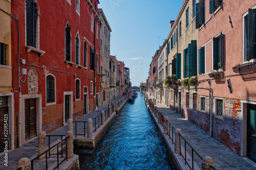 View of a canal in the Venice lagoon