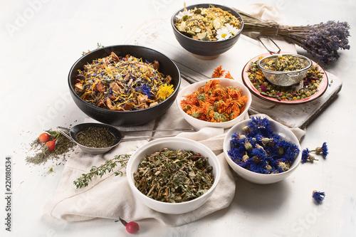 Leinwanddruck Bild Herbal tea