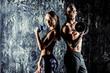 Leinwanddruck Bild - sporty and healthy couple
