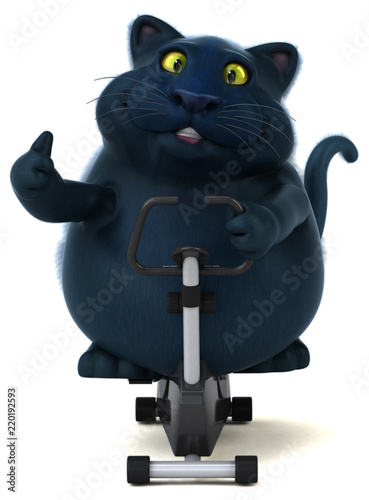 Black cat - 3D Illustration - 220192593