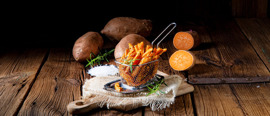 crispy sweet potato fries from the oven © Dar1930