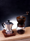 Coffee equipment, Pot and Coffee grinder - 220216395