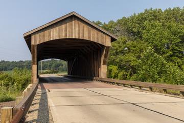 Covered Bridge On Rural Road © johnsroad7