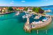Leinwanddruck Bild - Aerial view of Lindau, Bodensee, Germany