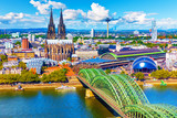 Aerial panorama of Cologne or Koln, Germany - 220223515