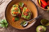 Avocado Toast with Sliced Tomato - 220225135