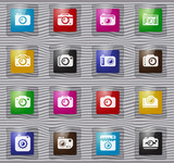 photo camera glass icon set - 220228525