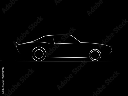 Musclecar Side View Line Illustration Buy Photos Ap Images