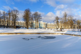 Catherine palace and park in Tsarskoe Selo in winter. Pushkin. Saint Petersburg. Russia - 220236902