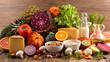 Leinwandbild Motiv healthy food composition