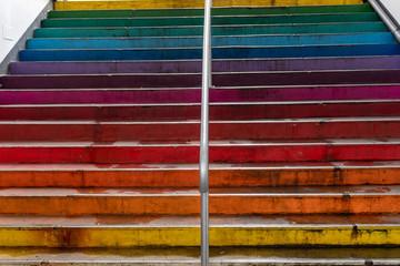 peace rainbow colors stair © Andrea Izzotti