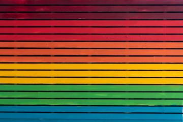 peace rainbow colors stair