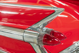 Red classic Cadillac rear light