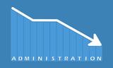 Administration - decreasing graph - 220282375