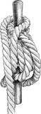 Vector drawing of a rigging rope - 220293911
