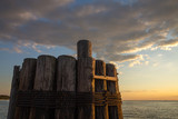 Pilings at Claiborne Landing Boat Launch in the Chesapeake Bay Talbot County Mid Atlantic Maryland - 220298778