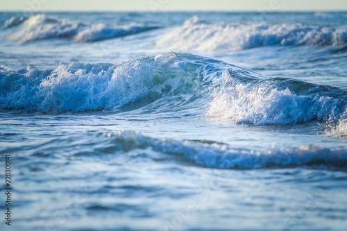 Leinwandbild Motiv arka plan,deniz,dalga