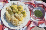 Cauliflower with potatoes sprinkled with dill - 220305988