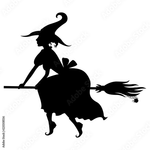 halloween witch silhouette on broom buy photos ap images