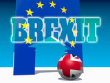 Illustration relative to politic situation between Great Britain and European Union. Brexit named politic process. 3D rendering - 220332921